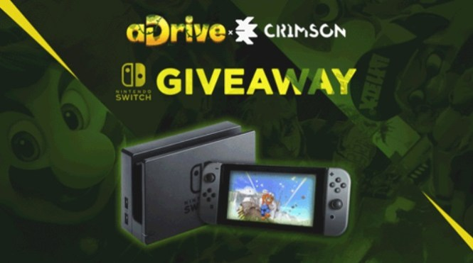 aDrive & CrimsonCBAD Nintendo Switch Giveaway - Enter For Chance To Win Nintendo Switch Console