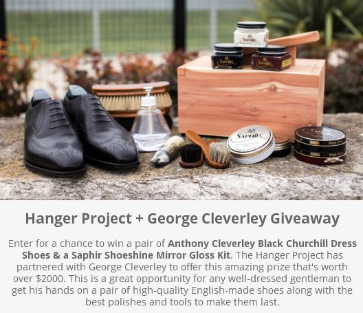 Hanger Project George Cleverley Giveaway - Enter to Win A Pair of Anthony Cleverley Black Churchill Dress