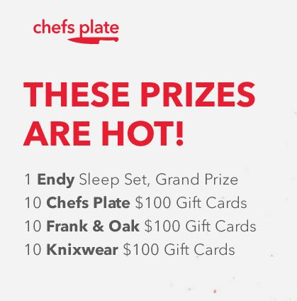 Chefs Plate Hot Contest 2018-Enter To Win 1 Endy Sleep Set, Grand Prize