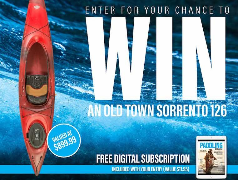 Paddling Magazine Kayak Giveaway - Chance To Win Old Town Sorrento 126