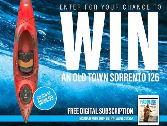 Paddling Magazine Kayak Giveaway - Chance To Win Old Town Sorrento 126