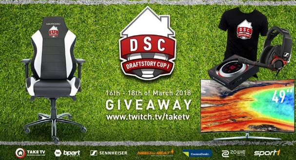 TaKe TV Draft Story Cup Giveaway - Enter To Win Maxnomic Pro-Chief BWE, Sennheiser GSP600