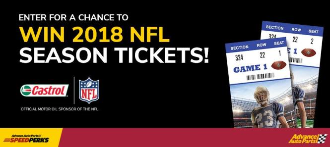 Castrol Sweepstakes - Chance To Win 2018 Season Tickets to the NFL Team