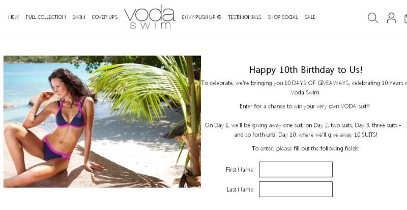 Voda Swim 10 Days of Giveaways – Stand Chance to Win a Voda Swim String Bikini Top and Bottom