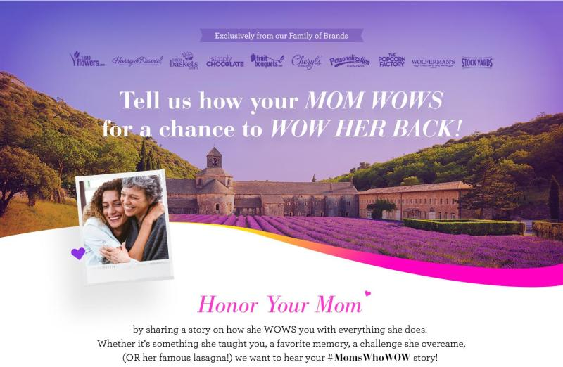 1-800-FLOWERS.COM Moms Who WOW Sweepstakes-Enter To Win A Trip To Lavender Fields of Provence France