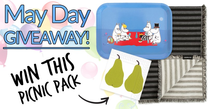 FinnStyle May Day Giveaway – Stand Chance to Win Blanket, Lunch Napkins, Moomin Picnic Tray Prizes