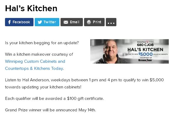 Hal's Kitchen Contest – Stand Chance to Win a $100 gift certificate