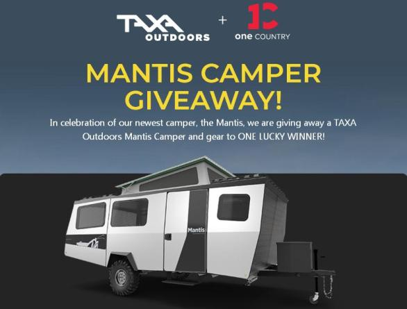 The Taxa Outdoors One Country Mantis Camper Giveaway – Stand Chance To Win Taxa Mantis Camper, 30 Fog Gray, Tumblers, Tepui Awning, Roof Bike Rack, Hiking Backpack, Roof Basket And Year Supply of Naked Granola