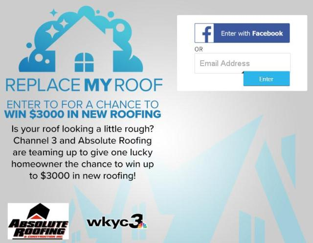 WKYC-TV Replace the Roof Sweepstakes – Stand Chance To Win A $3000 Gift Certificate On Shingle Roof Replacement