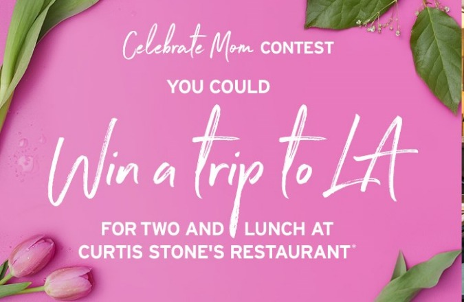 TSC Celebrate Mom Mother's Day Contest-Chance To Win A Trip To Los Angeles, Lunch At Gwen