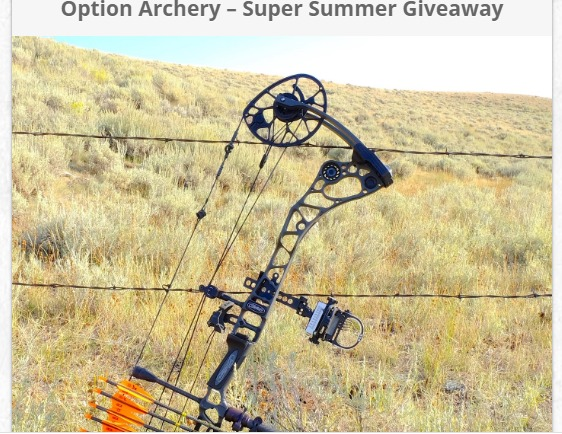 Option Archery Super Summer Giveaway-Win Grand Prize Package