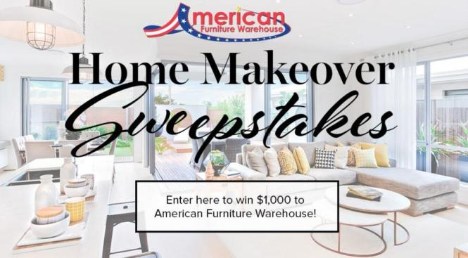 American Furniture Warehouse Spring Home Makeover Sweepstakes