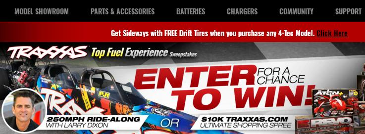 Traxxas Top-Fuel Experience Sweepstakes – Stand Chance to Win A Larry Dixon Top Fuel Experience, A Traxxas Shopping Spree