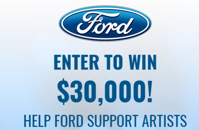 2018 BYG Ford Sweepstakes - Enter To Win $30,000 Towards A Ford Vehicle