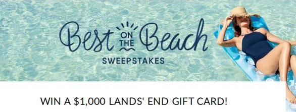 Lands' End Best on the Beach Sweepstakes – Stand Chance To Win $1,000 Lands' End eGift Card