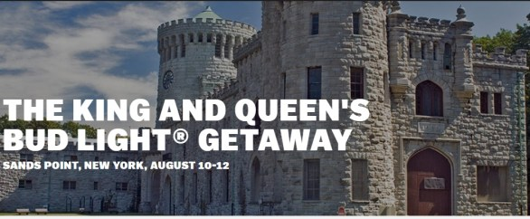 Bud Light King and Queen Getaway Sweepstakes - Enter To Win A Trip To New York For Bud Light Getaway