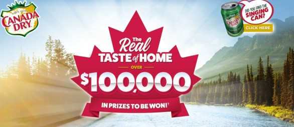 The Canada Dry Real Taste of Home Contest - Chance To Win A $10,000 CDN Air Canada Vacations Gift Certificate