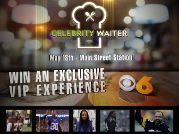 CBS 6 Celebrity Waiter Experience Giveaway – Stand Chance To Win A Pair Of VIP Tickets To Michael Robinson's Celebrity Waiter Experience
