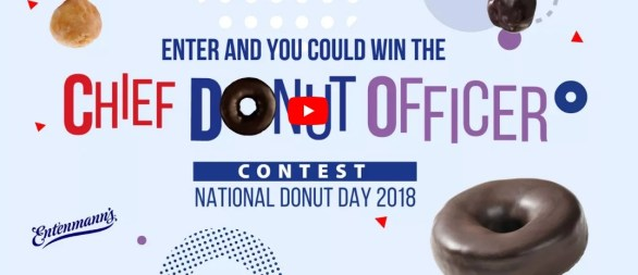 Entenmann's Chief Donut Officer Contest - Stand A Chance To Win $5,000 Check And $1,000 Check