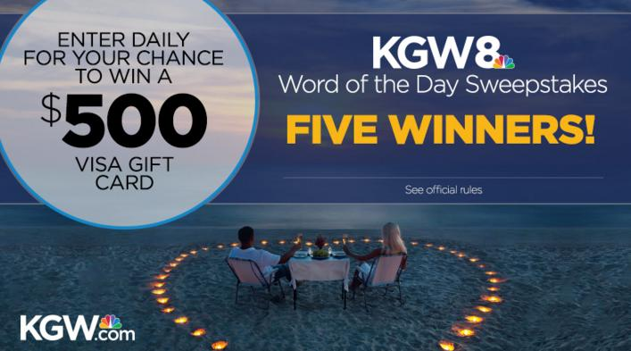 KGW Word Of The Day Sweepstakes – Stand Chance To Win $500 Visa Gift Card Prize