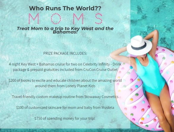 Mother Mighty Who Runs the World? Moms Mother's Day Giveaway - Chance To Win One Four-Fight Cruise, $200 Of Books, $100 of Customized Skincare