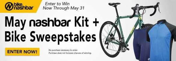 Nashbar May Giveaway – Chance To Win NB-ALCX Nashbar Alloy 105 Cyclocross Bike, Shorts, Short Sleeve Jersey