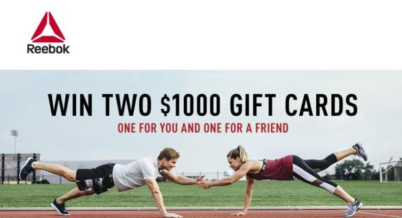 Reebok Gift Card Sweepstakes – Stand Chance To Win $1000 Reebok Gift Card