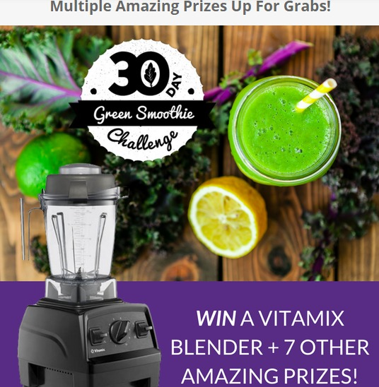 Young and Raw 30 Day Green Smoothie Challenge Giveaway-Enter To Win Vitamax Blender and 7 Prizes