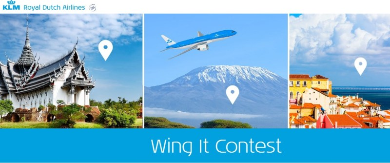 KLM Wing it Contest-Chance To Win A Trip For Two, Hotel Stay