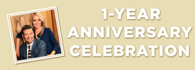 Live with Kelly & Ryan One Year Anniversary Giveaway-Chance To Win A Spa Getaway For Two, An Anniversary Picture Frame, Trip To Napa