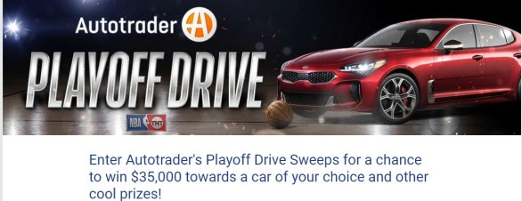 NBA Autotrader's Playoff Drive Sweepstakes - Enter To Win $35,000 Autotrader.com Voucher, Trip, Tickets