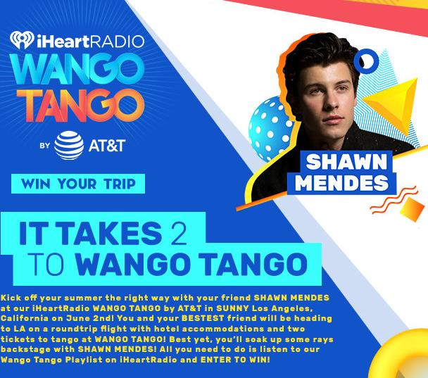 Shawn Mendes IT TAKES 2 TO WANGO TANGO Sweepstakes – Stand Chance to Win A Trip To Los AngelesShawn Mendes IT TAKES 2 TO WANGO TANGO Sweepstakes – Stand Chance to Win A Trip To Los Angeles