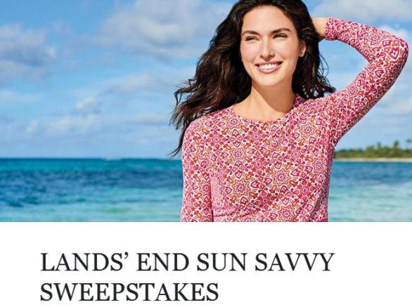 Lands' End Sun Savvy Sweepstakes – Stand Chance to Win A $50 Lands' End Gift Card Prize