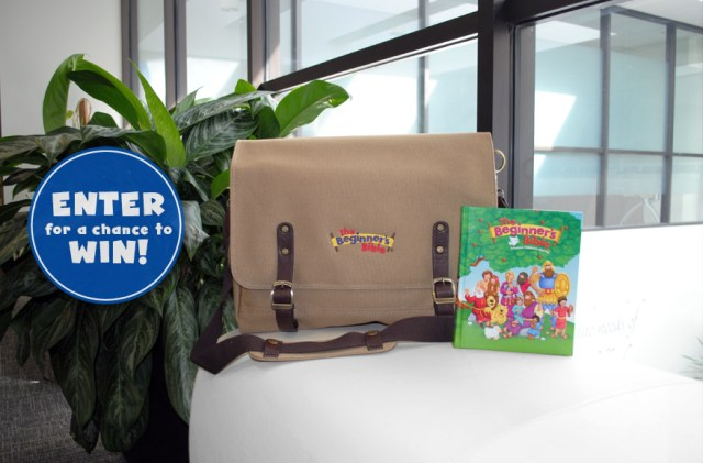 The Beginner's Bible Spring 2018 Sweepstakes - Enter To Win An Embroidered Messenger Bag, Storybook