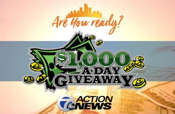 WXYZ 7 Action News Thousand Dollar A Day Giveaway – Stand Chance To Win Daily Jackpot Amount Of $1,000