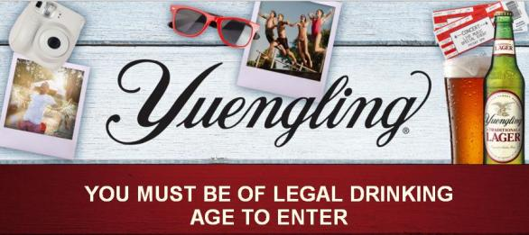 The Yuengling American Summer Sweepstakes– Stand Chance to Win A $500 Gift Card, Guitar, Fujifilm Camera, Yuengling Prize Pack