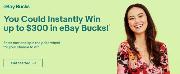 eBay Bucks Instant Win Game And Sweepstakes - Chance to Win $100 eBay Bucks Prize