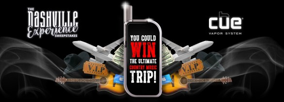 Cue Nashville Experience Sweepstakes-Enter to Win a Country Music Trip, $500 in spending cash, Two Tickets To the CMA Fes