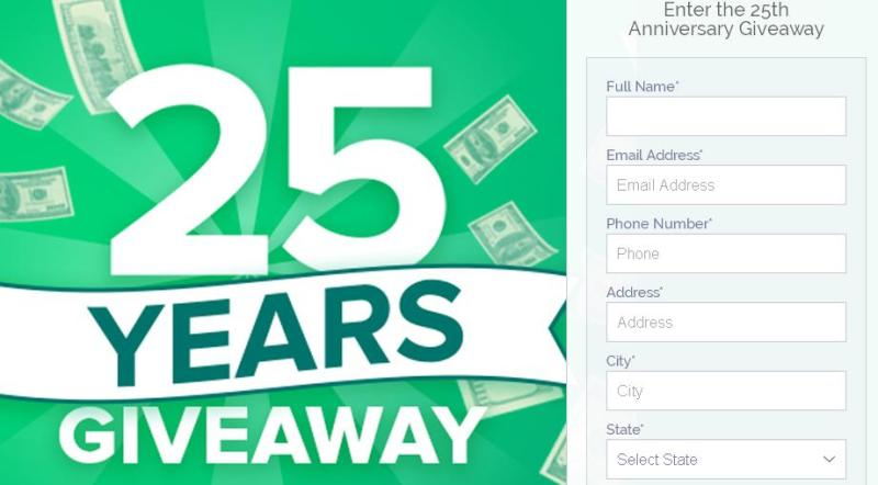 Check Into Cash 25th Anniversary Giveaway – Stand Chance To Win $1,000 Cash Prize