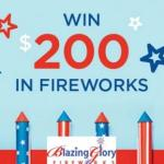 Blazing Glory Fireworks Sweepstakes – Stand Chance To Win $200 In Fireworks