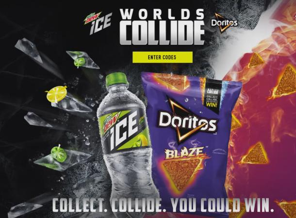 Worlds Collide Mtn Dew And Doritos Sweepstakes – Win Instant Prizes
