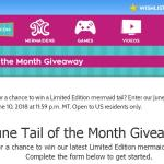 June Tail of the Month Giveaway – Chance To Win A Limited Edition Mermaid Tail