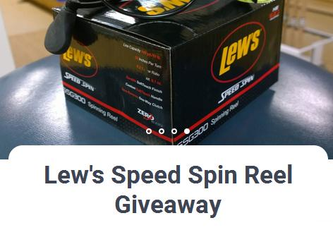 Lew's Speed Spin Reel Giveaway – Win A Lew's Speed Spin SSG 300 Reels