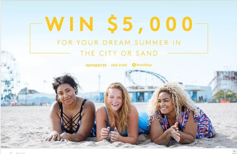 Refinery29 + Streeteasy Sweepstakes - Chance To Win $5,000 American Express Gift Card
