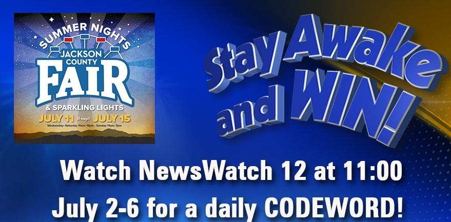 KDRV-TV Jackson County Fair Stay Awake And Win Contest – Win Season Pass