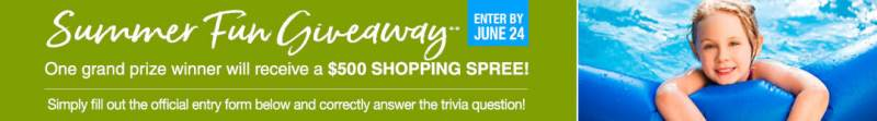 Stoneberry Summer Fun Giveaway - Enter To Win A $500 Shopping Spree