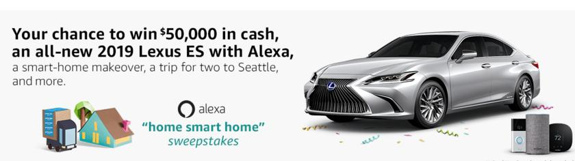 Alexa Home-Smart-Home Sweepstakes – Stand Chance To Win $50,000 Cash Prize
