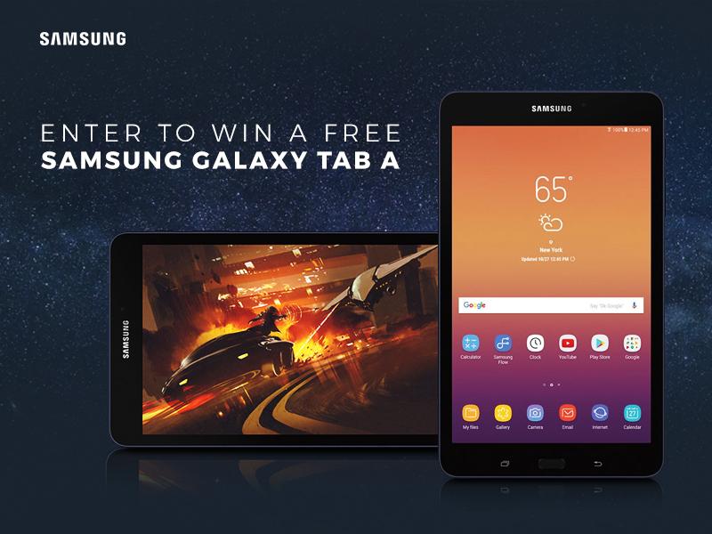 Buydig.com Samsung Galaxy Tab A Giveaway - Chance To Win Samsung SM-T380NZKEXAR 8 Galaxy Tab A 32GB Tablet