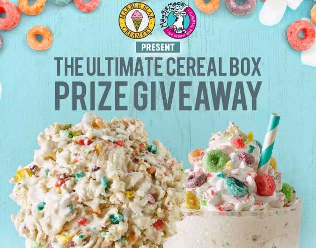 The Ultimate Cereal Box Prize Giveaway – Stand Chance To Win Free Ice Cream For A Year