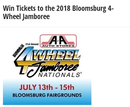 Summer 4-Wheel Jamboree Nationals Giveaway – Chance To Win VIP Passes Prize